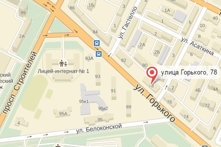 Яндекс карта Питстоп на Горького