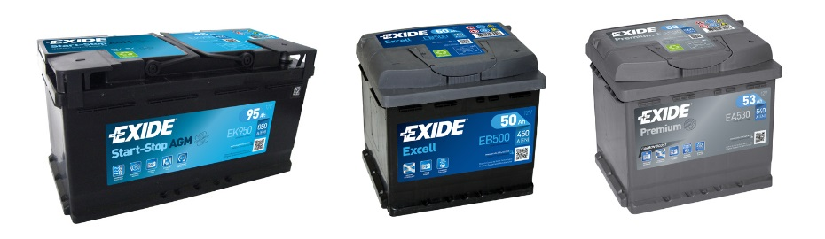 Exide car battery